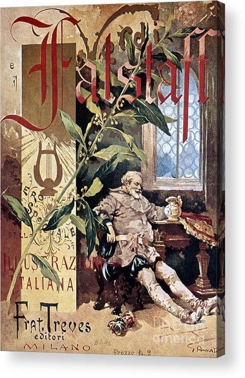 1893 Acrylic Print featuring the photograph Verdi E Il Falstaff by Granger