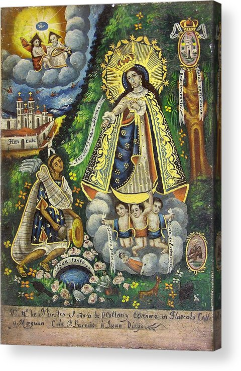 Religion Acrylic Print featuring the painting Virgen De Ocotlan by Unknown