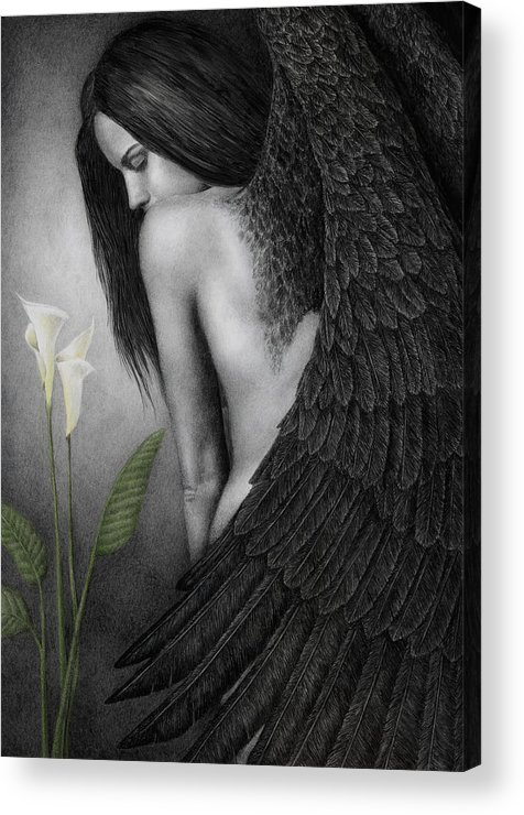 Woman Acrylic Print featuring the painting Visible Darkness by Pat Erickson