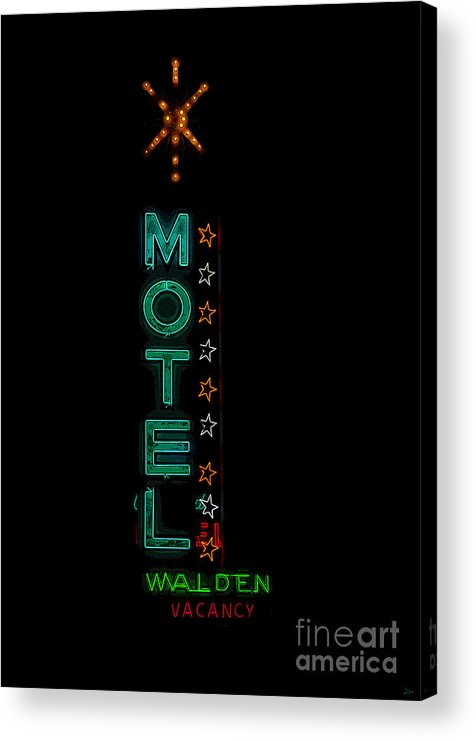 Art Acrylic Print featuring the painting Walden Motel Las Vegas by David Lee Thompson
