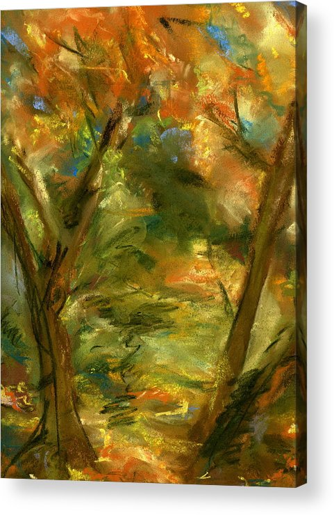 Colorful Acrylic Print featuring the painting Walk In The Park by Marilyn Barton