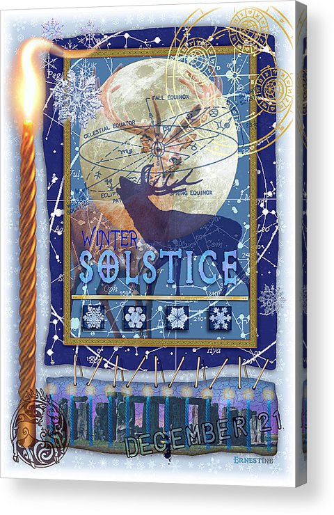 Solstice Acrylic Print featuring the digital art Winter Solstice by Ernestine Grindal