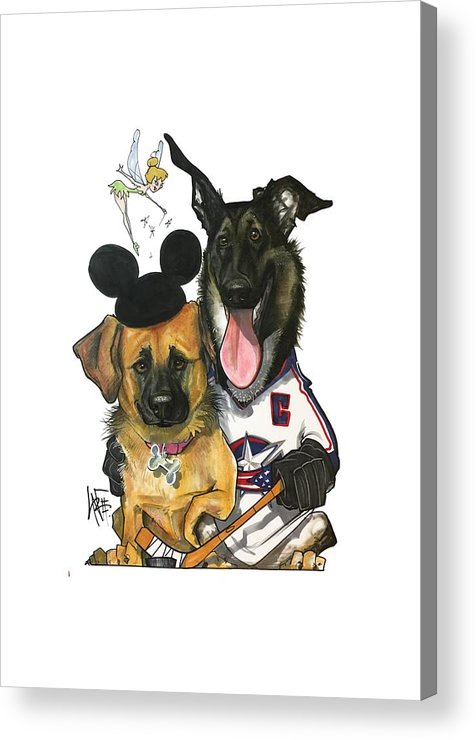 Pet Portrait Acrylic Print featuring the drawing Young 3268 by John LaFree