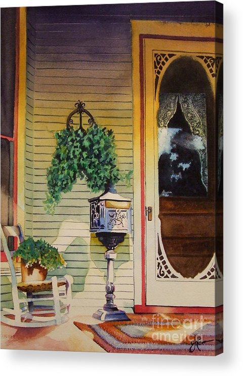Antique Acrylic Print featuring the painting You've Got Mail by Greg and Linda Halom
