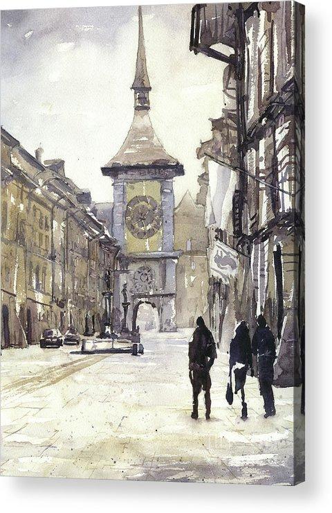 American Watercolour Acrylic Print featuring the painting Bern, Switzerland by Ryan Fox