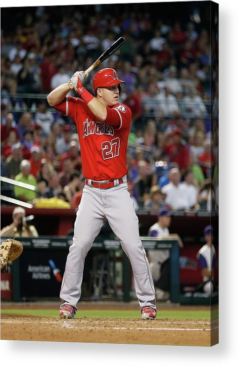 People Acrylic Print featuring the photograph Los Angeles Angels Of Anaheim V Arizona 15 by Christian Petersen