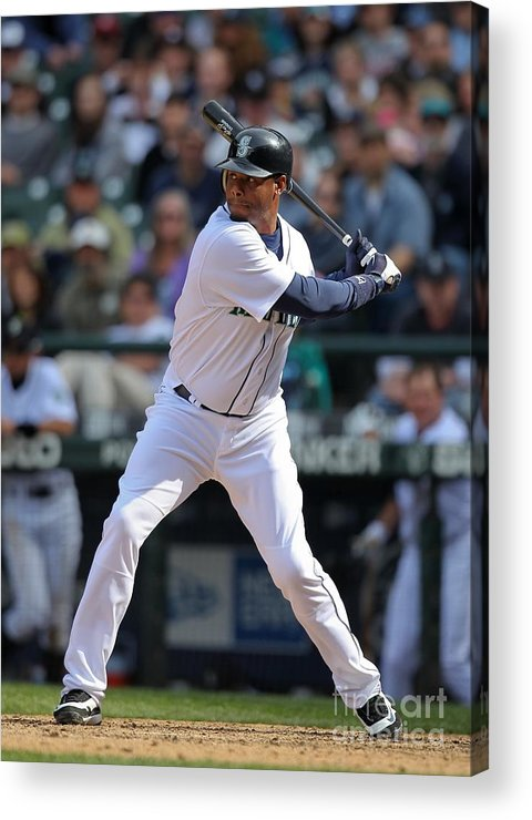 American League Baseball Acrylic Print featuring the photograph Detroit Tigers V Seattle Mariners by Otto Greule Jr