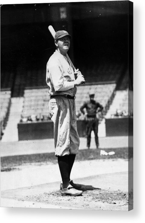 People Acrylic Print featuring the photograph Babe Ruth by General Photographic Agency