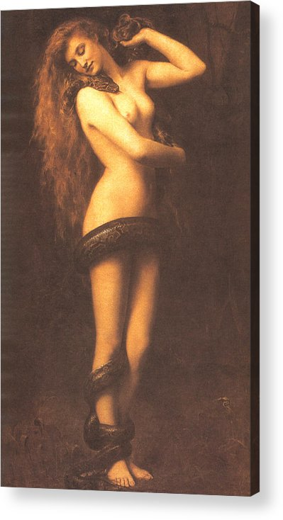 John Collier Acrylic Print featuring the digital art Lilth by John Collier