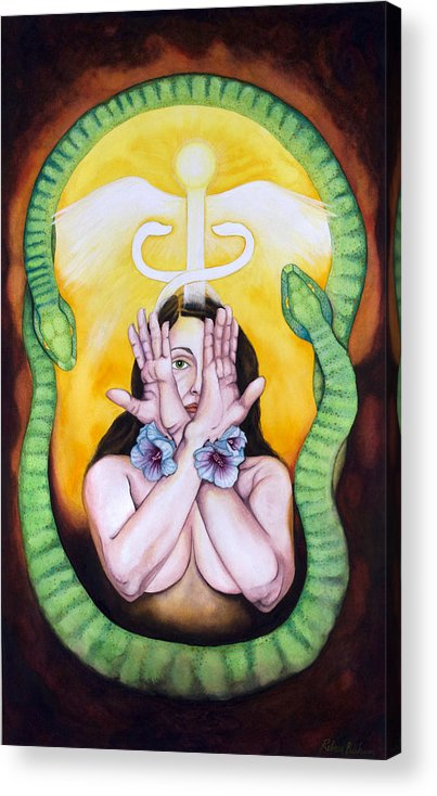 Eve Acrylic Print featuring the painting The Serpent's Gift by Rebecca Barham