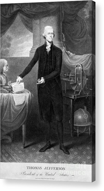 1801 Acrylic Print featuring the photograph Thomas Jefferson (1743-1826) by Granger