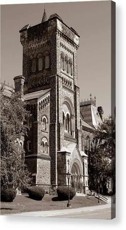 Toronto Acrylic Print featuring the photograph University Of Toronto 2 by Andrew Fare