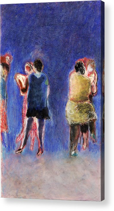 Dancer Acrylic Print featuring the painting Dancers by Bill Collins