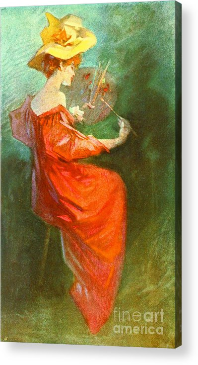 Peinture 1900 Acrylic Print featuring the photograph La Peinture 1900 by Padre Art