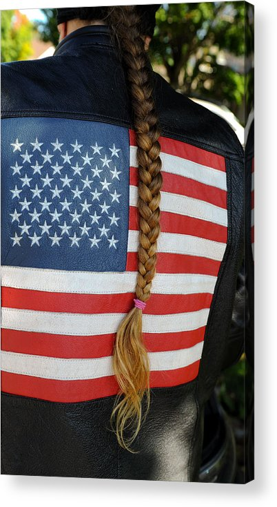 Flag Acrylic Print featuring the photograph Patriotic Pony Tail by Jerry Frishman