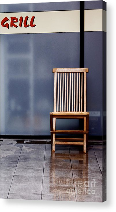 Chair Acrylic Print featuring the photograph Reflexion by Vadim Grabbe