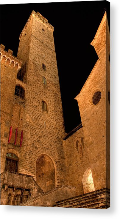 Italy Acrylic Print featuring the photograph San Gimignano by Colette Panaioti