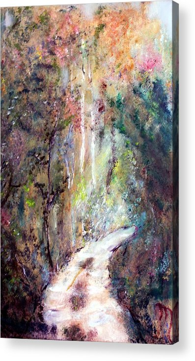 Landscape Acrylic Print featuring the painting Sanctuary by Michela Akers
