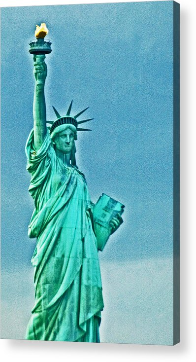Statue Of Liberty Acrylic Print featuring the photograph Statue Of Liberty by Allan Einhorn
