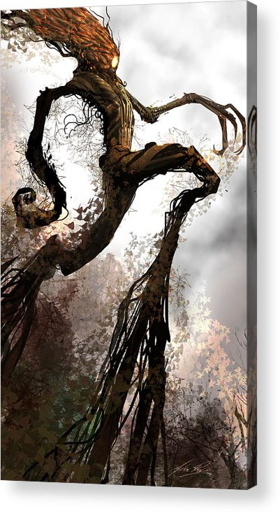 Concept Art Acrylic Print featuring the digital art Treeman by Alex Ruiz