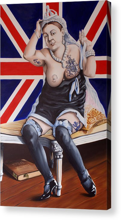 Queen Victoria Acrylic Print featuring the painting Victoria by Matthew Lake