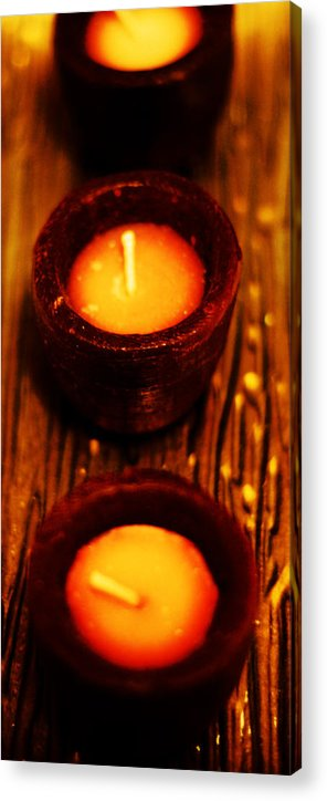 Candles Acrylic Print featuring the photograph 3 Of A Kind by Lounge Mode Production Art