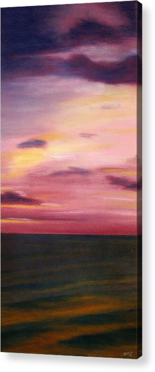 Sunrise Acrylic Print featuring the painting Chesapeake Skyscape by Gary Jameson