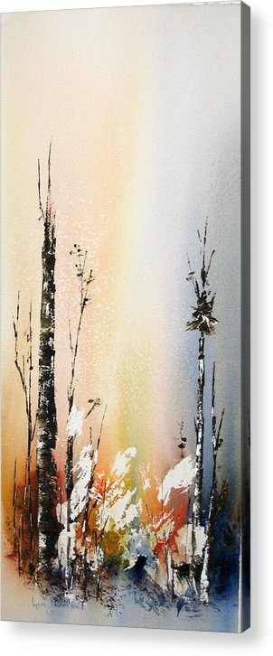 Snowey Scene Acrylic Print featuring the painting Cool Spring by Lynne Parker