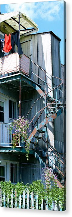 Patios Acrylic Print featuring the photograph Balcony 1 by Kume Bryant