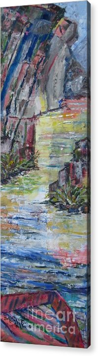 River Acrylic Print featuring the painting The Gorge by Judith Espinoza