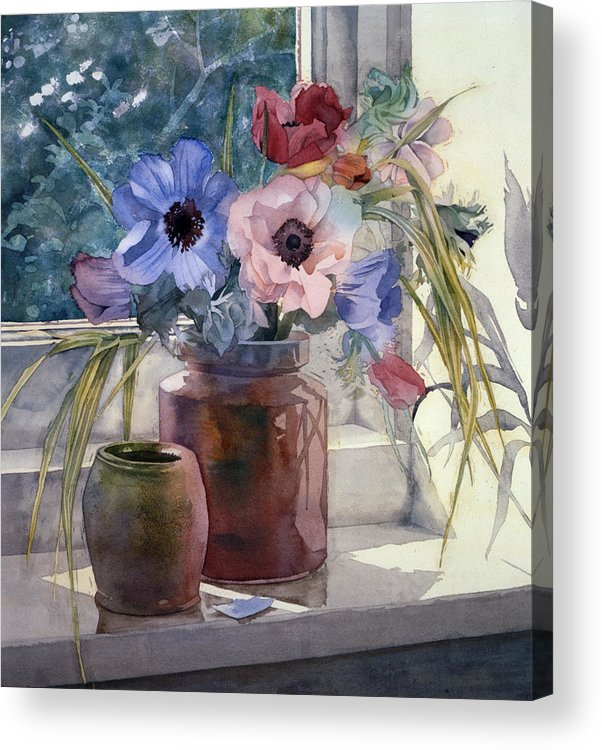 Julia Rowntree Acrylic Print featuring the photograph Anemones by Julia Rowntree