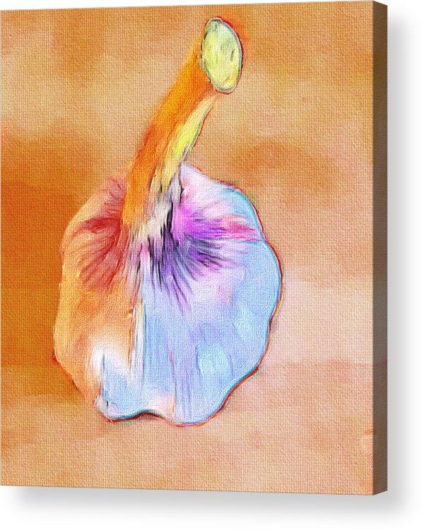 Garlic Acrylic Print featuring the digital art Poor Galic by Yury Malkov