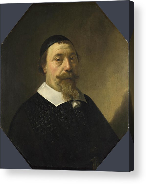 Aelbert Cuyp Acrylic Print featuring the painting Portrait Of A Bearded Man by Aelbert Cuyp