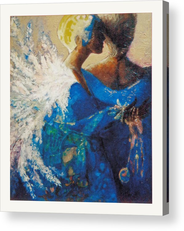 Figure Acrylic Print featuring the painting She Who Whispers by Dale Witherow