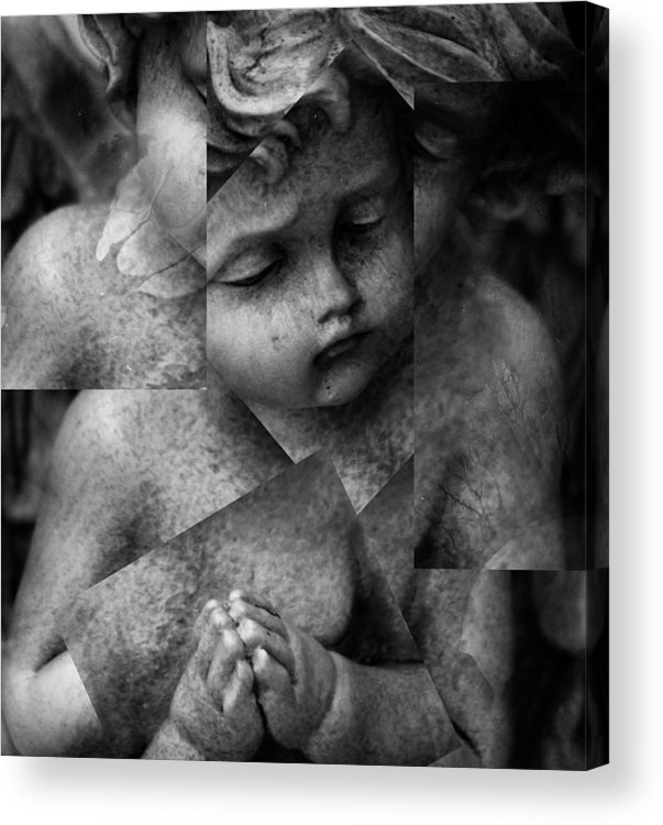 Seraphim Acrylic Print featuring the photograph Silence Of A Seraphim by Jerry Cordeiro