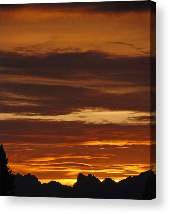 Mountains Acrylic Print featuring the photograph Cascade Mountains Sunrise 2 by Carol Eliassen