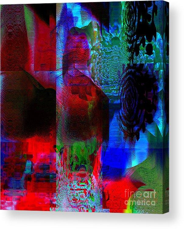 Fania Simon Acrylic Print featuring the mixed media A Representation Of Nothing by Fania Simon