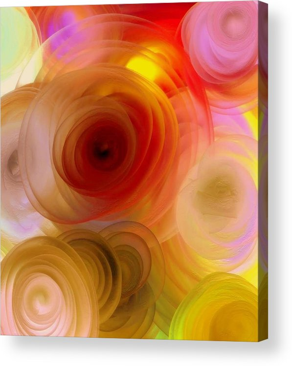 Nature Acrylic Print featuring the painting Beautiful Roses by Janpen Sherwood