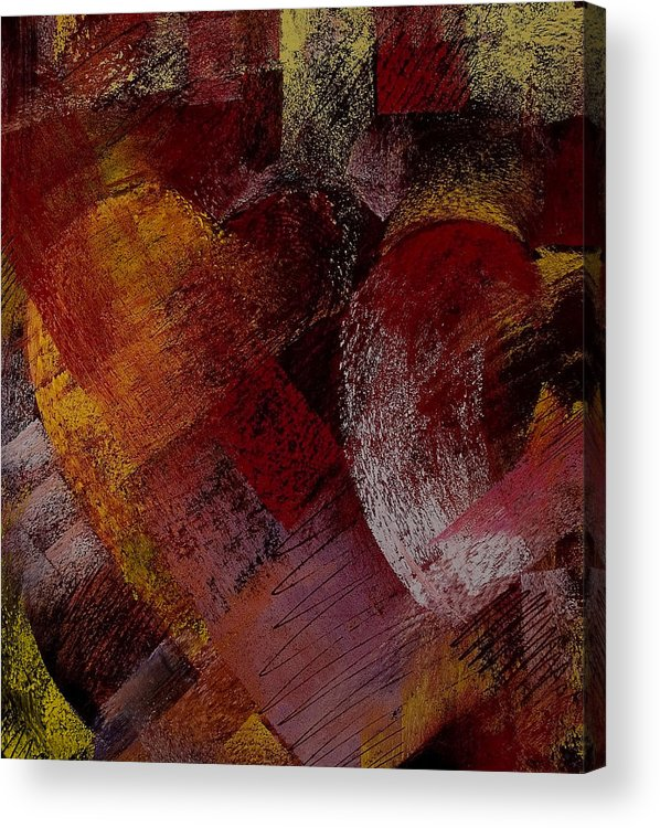 Hearts Acrylic Print featuring the painting Hearts by David Patterson