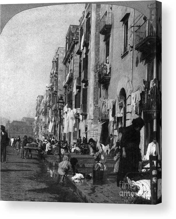 1904 Acrylic Print featuring the photograph Italy: Naples, C1904 by Granger