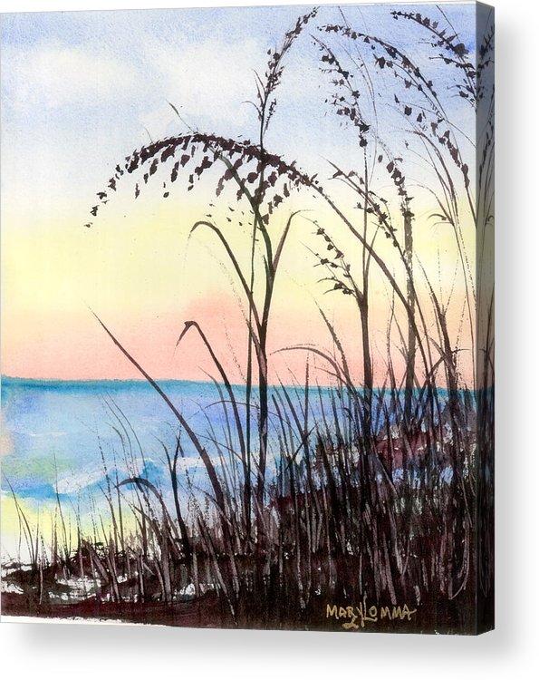Beach Acrylic Print featuring the painting Jax Beach by Mary Lomma