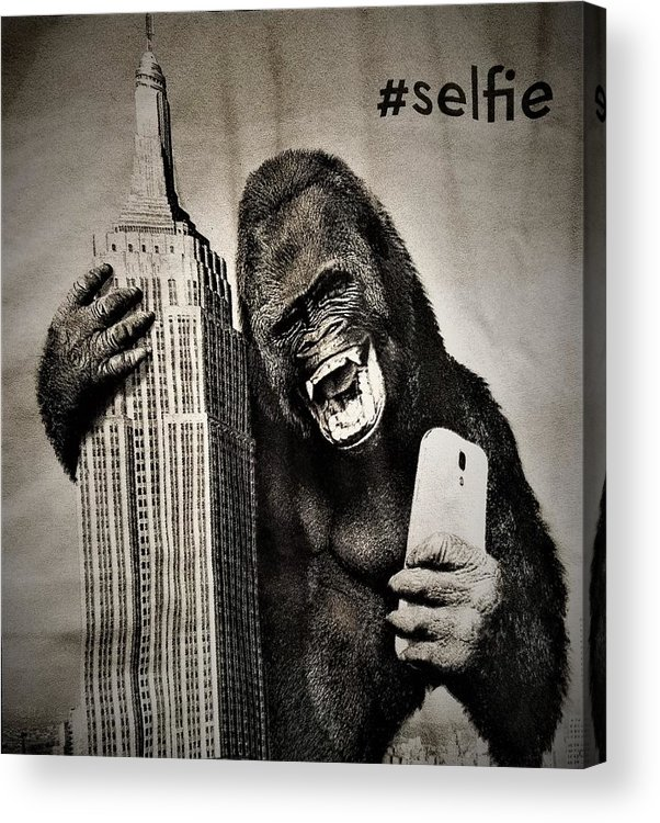 Architecture Acrylic Print featuring the photograph King Kong Selfie by Rob Hans