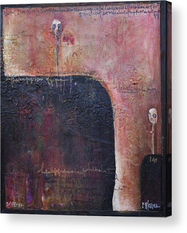 From The Lollipop Love Series. Mixed Media On Recycled Wood Panel Acrylic Print featuring the painting Lollipop Love No. 1 by Laurie Maves ART