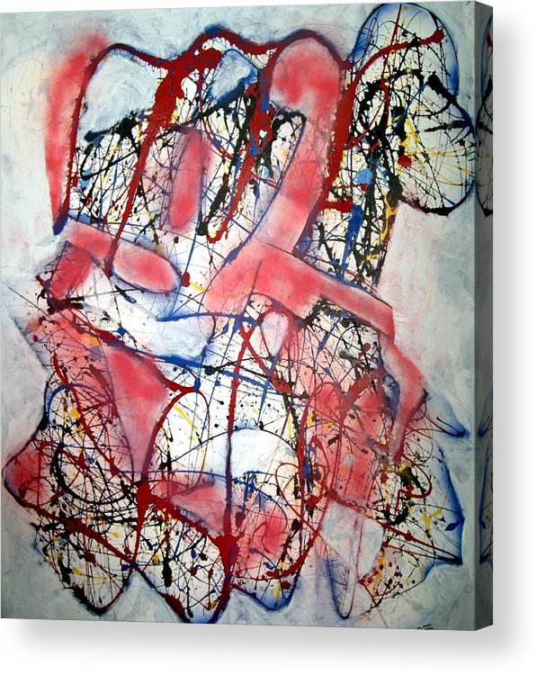 Abstract Acrylic Print featuring the painting Urban Legend by Paul Freidin