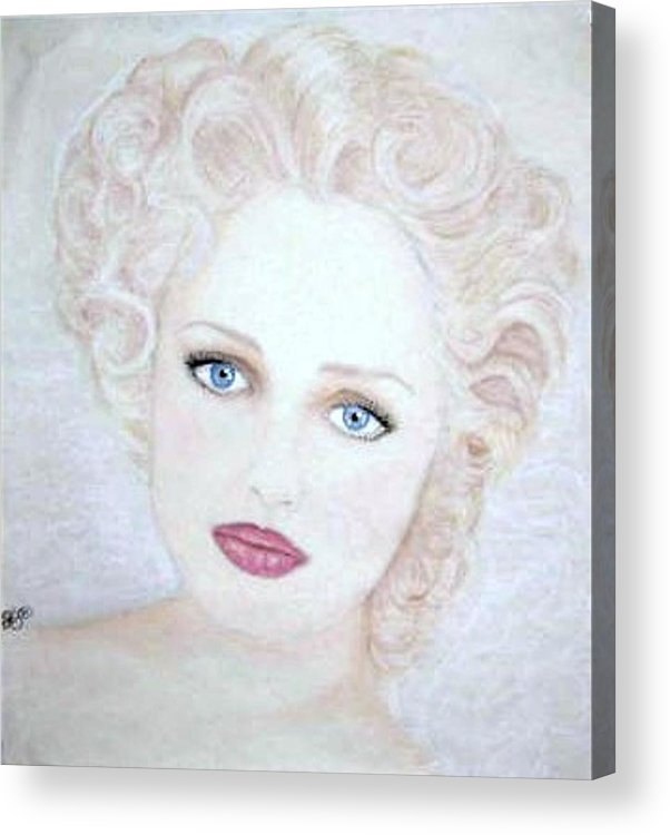 Face Acrylic Print featuring the drawing Virginia by Scarlett Royal