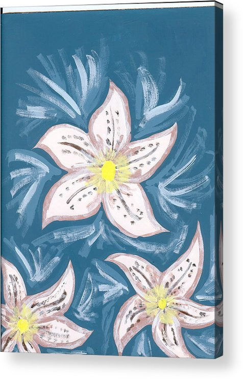 Flower Acrylic Print featuring the painting Becky by Laura Lillo