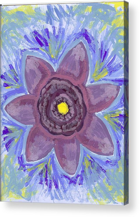 Flower Acrylic Print featuring the painting Cashmere by Laura Lillo