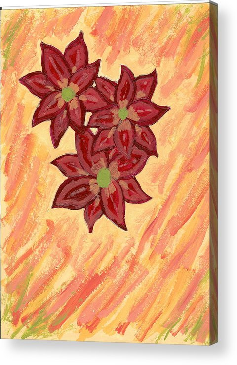 Flower Acrylic Print featuring the painting Kelli by Laura Lillo