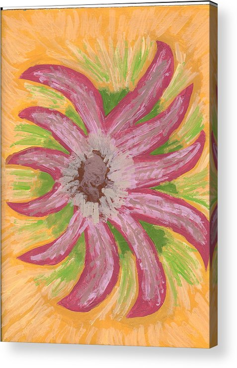Flower Acrylic Print featuring the painting Spider by Laura Lillo