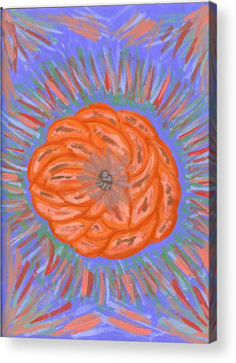 Flower Acrylic Print featuring the painting Starburst by Laura Lillo